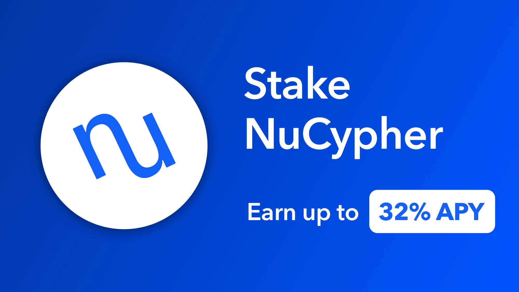 Stake NuCypher (NU) on CoinList and earn up to 32% APY