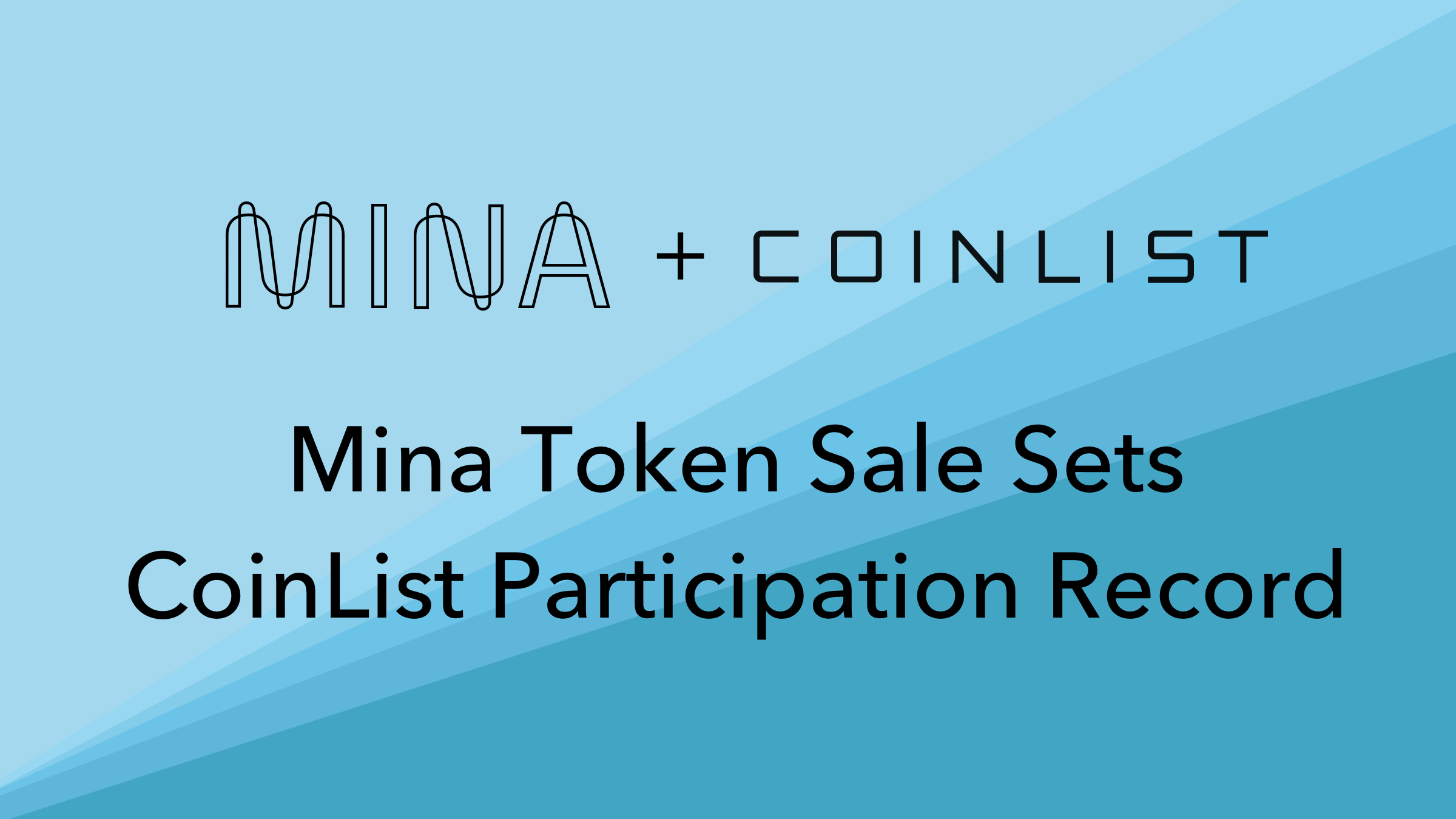 Mina Token Sale Sets Participation Record on CoinList