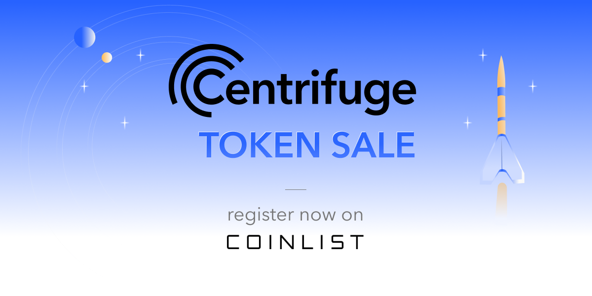 Announcing the Centrifuge Token Sale on CoinList