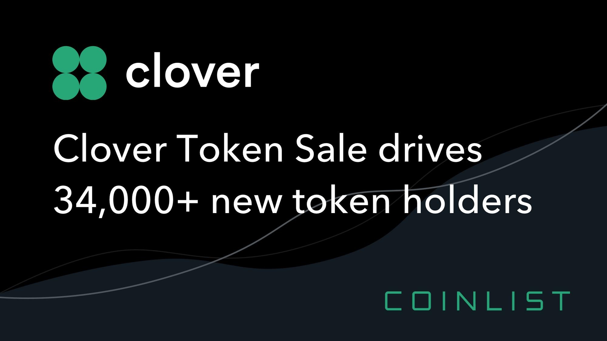 Clover Token Sale Drives 34,000+ New Token Holders